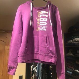 Purple Aeropostale Hoodie w/ Kangaroo Pocket